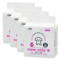 国産ペットシーツ 厚型炭入り スーパーワイド 18枚 4袋 吸収力抜群 ダブル消臭 抗菌剤配合