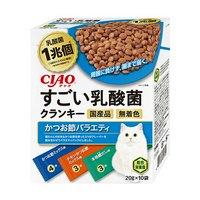 CIAO すごい乳酸菌クランキー かつお節バラエティ 20g×10袋