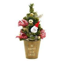 クリスマスアレンジアソート トールウッドツリー サンタクロース(1個)