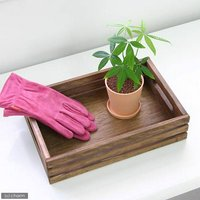 オイルステイン ナチュラル木箱 大(W33×D22×H8cm) 横板3本