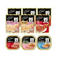 マース シーザー 成犬用 人気の味食べ比べセット トレイ3種各1個 + パウチ3種各2袋