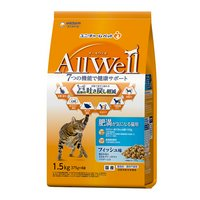 AllWell 肥満が気になる猫用 フィッシュ味挽き小魚とささみフリーズドライパウダー入り 1.5kg