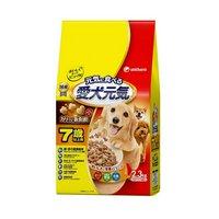 愛犬元気 7歳以上用 ビーフ緑黄色野菜小魚入り 2.3kg(小分パック4袋入)国産 ドッグフード 総合栄養食 高齢犬用