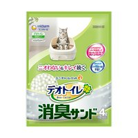 デオトイレ 消臭サンド お徳用4L 6袋入り 猫砂 シリカゲル