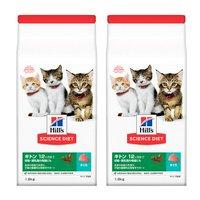 ヒルズ サイエンスダイエット キャットフード キトン 12ヶ月まで 子猫用 まぐろ 1.8kg×2袋