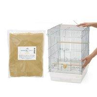 HOEI 35手のり 銀色メッキ(底色:ホワイト)+おやすみ鳥ケージカバーセット(370×415×545)