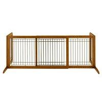 リッチェル 木製おくだけゲート ワイド ブラウン 犬ペット用 ゲート 柵 フェンス