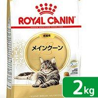 ロイヤルカナン 猫 メインクーン 成猫用 生後15ヵ月齢から12歳まで 2kg ジップ付(キャットフード ドライ)