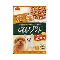 ビタワン君のWソフト 成犬用 ビーフ味やわらかささみ添え 200g 犬 セミモイスト 国産