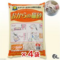 猫砂  常陸化工 おからの猫砂 6L 4袋