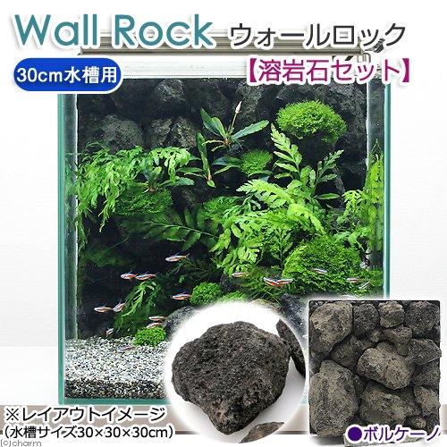 """ウォールロック """"ボルケーノ"""" 30cm水槽用+溶岩石セット"""