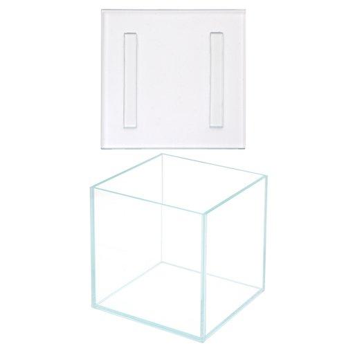スーパークリア コケテラリウム アクロ15S(15×15×15) + スーパークリア コケテラリウム用 ガラスフタ 16×16cm