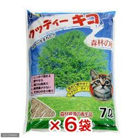 猫砂 常陸化工 固まる木製猫砂 ウッディーキコ 7L 6袋入り 猫砂 おがくず 固まる 燃やせる