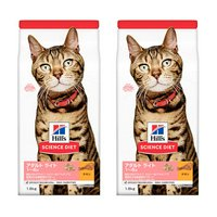ヒルズ サイエンスダイエット キャットフード アダルト ライト 1~6歳 肥満傾向の成猫用 チキン 1.8kg×2袋