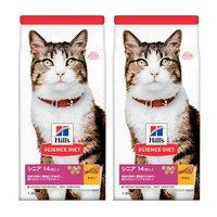 ヒルズ サイエンスダイエット キャットフード シニア 14歳以上 高齢猫用 チキン 1.8kg×2袋