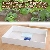 お手軽ビオトープ 池製作キット(W120×D90×H18.5cm) ホワイト