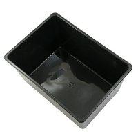 鈴木製作所 角型タライ スーパー 黒 めだか ビオトープ 金魚