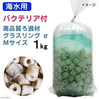 ろ材 海水用 バクテリア付き ライブろ材 グラスリング α(アルファ) Mサイズ 1kg