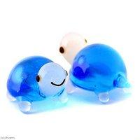 グラスコレクション プチシリーズ 「カメ(ライトブルー)」 1個