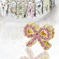 アウトレット品 チャームコレクション スライドチャーム ジュエルシリーズ 52 ピンク 品番:BKE-091 52 ストラップ用パーツ