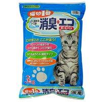 猫砂1番 消臭+エコ 3kg ベントナイト 細粒タイプ 国産