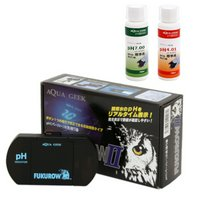 AQUAGEEK pHモニターFUKUROWII + pH標準液 (pH7.00/4.01) 淡水海水両用