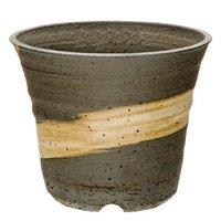 信楽焼 植木鉢 刷毛目ソリ深 11×9cm 多肉植物 山野草