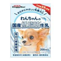 ドギーマン わんちゃんの国産低脂肪牛乳 200ml 24本入り 犬 ミルク