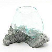 一点物 ガラス流木 クリスタルホワイト Mサイズ 861714