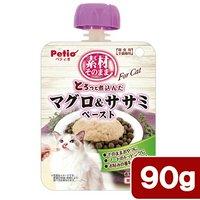 ペティオ 素材そのまま とろっと煮込んだ マグロ&ササミ ペースト For Cat 90g