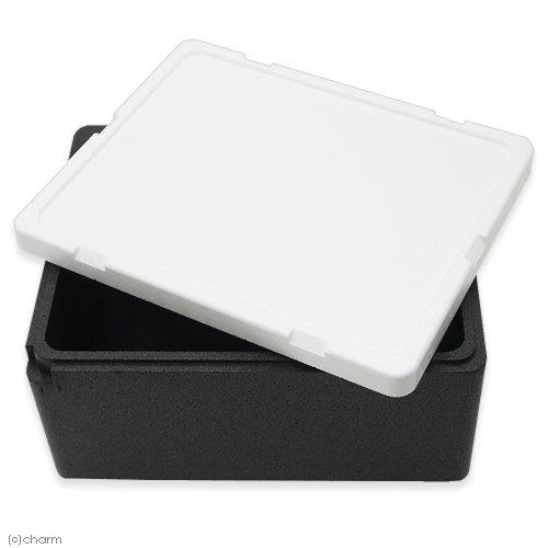 発泡スチロール箱 本体(黒)とフタ(白)のセット(幅43×奥行き35×高さ22cm) お一人様2点限り