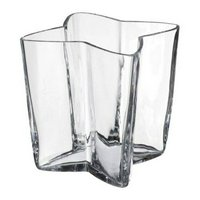 アウトレット品 花瓶 16cm クリアガラス