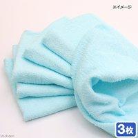 タオル ライトブルー(綿100%)3枚セット