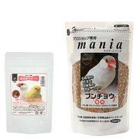 黒瀬ペットフード プロショップ専用 mania 文鳥 1L+鳥さんの食事昆虫食サポート ミルワームソフト30g セット