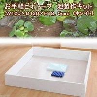お手軽ビオトープ 池製作キット(W120×D120×H18.5cm) ホワイト