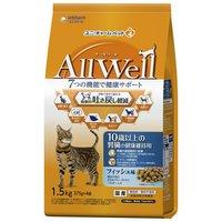 AllWell 10歳以上の腎臓の健康維持用 フィッシュ味 挽き小魚とささみフリーズドライパウダー入り 1.5kg(375g×4袋)