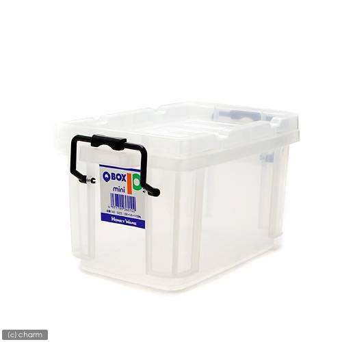QBOX−10 mini (230×135×125mm) 1個 クワガタ カブトムシ 飼育ケース コンテナ ボックス 飼育 ブリード