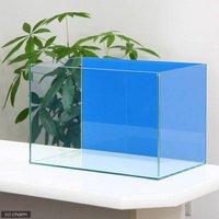 45cm水槽(単体)バックスクリーン貼付済 アクアブルー アクロ45N(45×27×30cm)オールガラス水槽