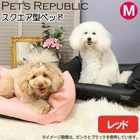 PET'S REPUBLIC レザーカドラーコンフォートリビング M レッド