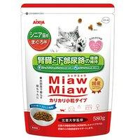 ミャウミャウ カリカリ小粒 シニア猫用 まぐろ味 580g 6袋入り