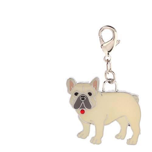 チャームコレクション フックチャーム 愛犬シリーズ フレンチブルドッグ 28 ベージュ 犬 猫 名入れ首輪 ストラップ用パーツ