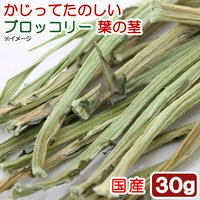 USAYAMA 国産 かじってたのしい ブロッコリー葉の茎 30g 小動物用のおやつ 無添加 無着色