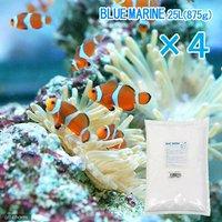 人工海水 ブルーマリン 100リットル用(25リットル用×4袋3.5kg)