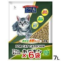 猫砂 新東北化学工業 フォーキャット カテキン 7L 6袋入り 猫砂 木粉 お茶葉 固まる 流せる 燃やせる