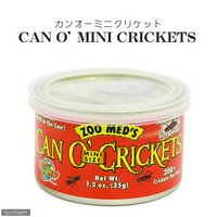 ZOOMED カン・オー ミニクリケット CAN O MINI CRICKETS 35g 爬虫類 餌 エサ 缶詰