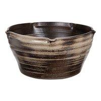 国産 手作り睡蓮鉢 益子焼 彩(SAI) 星型 炭化 直径約38cm ビオトープ