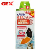 GEX ピュアクリスタル 軟水化フィルター 半円タイプ 猫用 5P