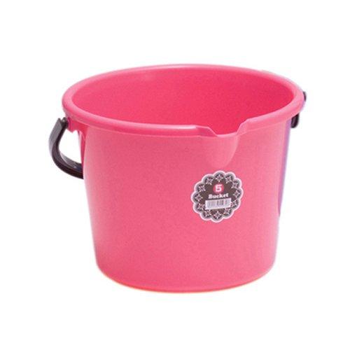 5型ポリバケツ本体 5リットル (5 bucket) ピンク
