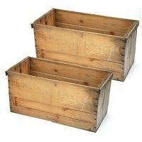 青森県産りんご箱 無塗装 訳あり 2箱セット お一人様1点