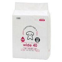 国産ペットシーツ 厚型炭入り ワイド 40枚(44×60cm)吸収力抜群 ダブル消臭 抗菌剤配合